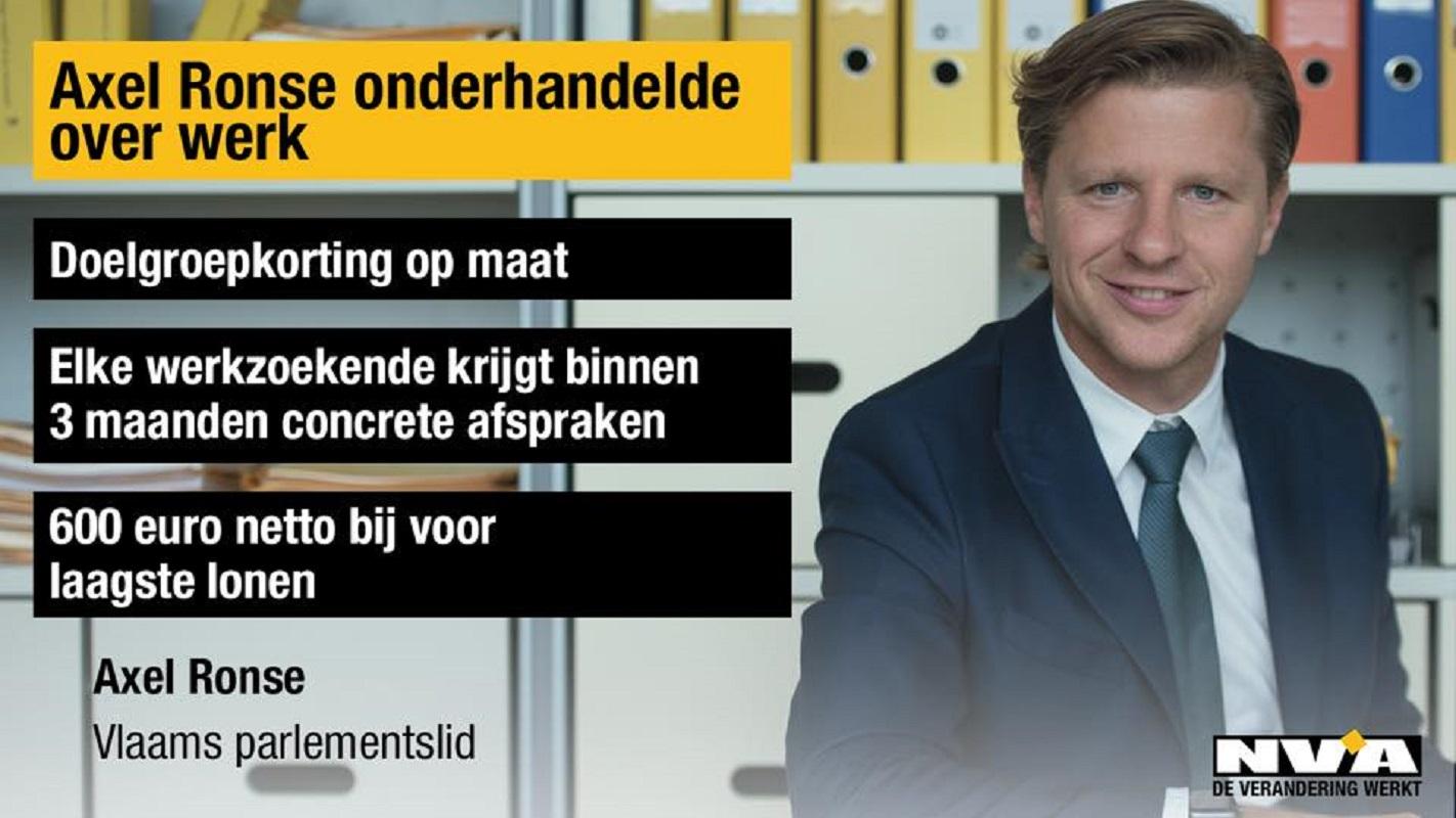 axel Ronse kopman werk Vlaamse Regering