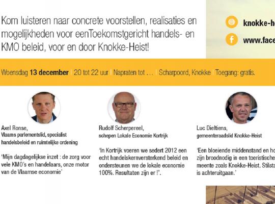 Gespreksavond lokale economie Knokke