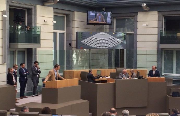 Axel Ronse doet tussenkomt in de plenaire omtrent het ING dossier