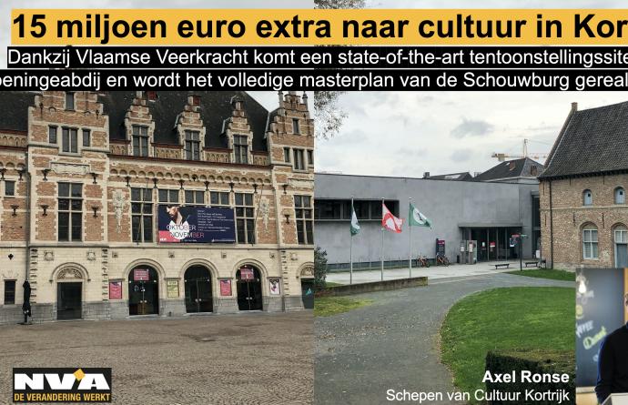 Kortrijk krijgt ongeziene steun van 15 miljoen euro van Vlaanderen om nog meer in cultuur te investeren