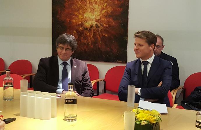 Axel Ronse ontvangt President Puigdemont te Harelbeke