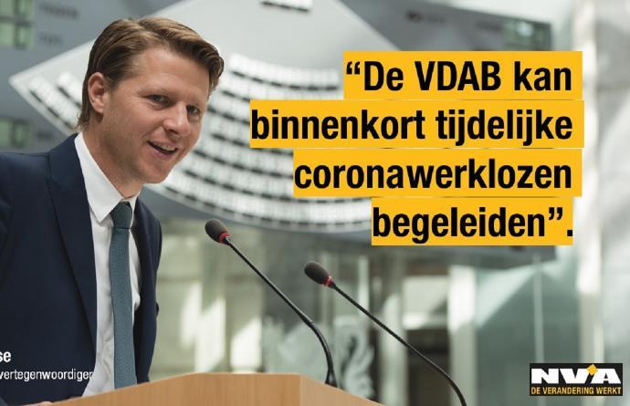 VDAB kan binnenkort tijdelijke coronawerklozen begeleiden