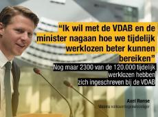 """Axel Ronse """"Met de VDAB en de minister nagaan hoe we mensen in tijdelijke werkloosheid beter kunnen bereiken"""