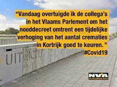 Nooddecreet biedt oplossing voor extra crematies  in Kortrijk, Aalst en Sint-Niklaas