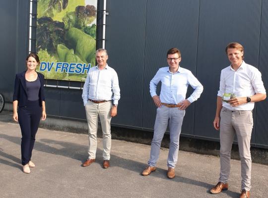 Axel Ronse bezoeken de West-Vlaamse  agro-industrie