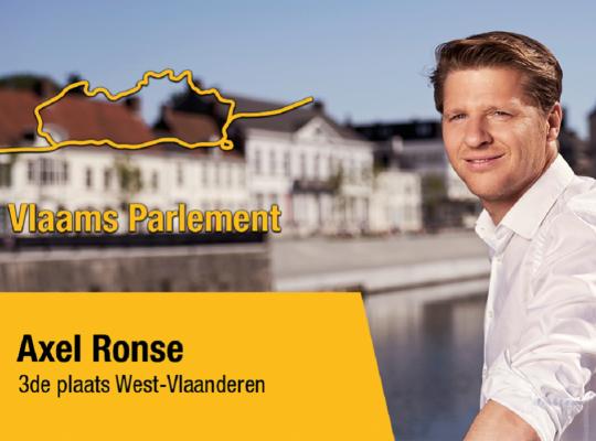 Axel Ronse op 3de plaats Vlaams