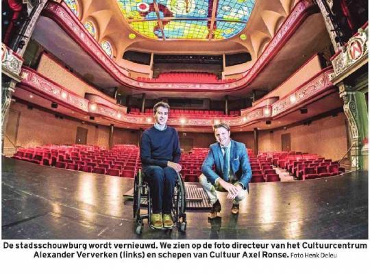 """Kortrijk pompt record van 23,6 miljoen euro in cultuur: """"Bijna dubbel zoveel als in andere Vlaamse steden"""""""