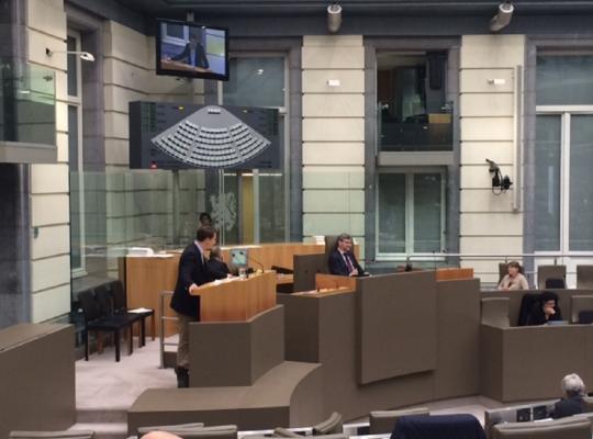 Axel Ronse aan het woord in de plenaire op de beleidsbrief Schauvliege