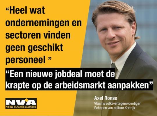 Axel Ronse Pleit voor 2de jobdeal