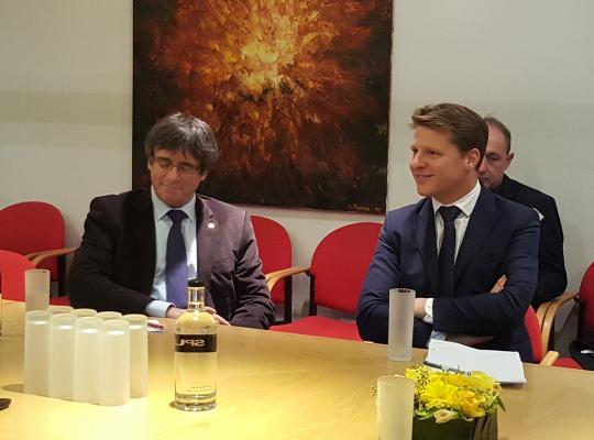 Axel Ronse ontvangt President Puigdemont