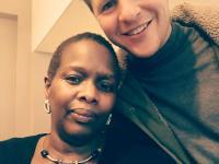 Samen met Leilah Camara in Ieper